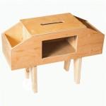 Dėžė įrankiams - kėdė bitininkui