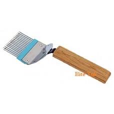 Atakiavimo šakutė tiesiomis adatėlėmis
